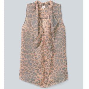 Aritzia Babaton Ainsley blouse - leopard - size S